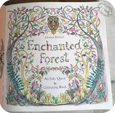 Clicks Clan Colouring In Enchanted Forest By Johanna Basford