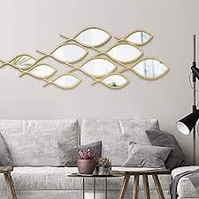 zzkjccf dekorativer wandspiegel fischförmige wanddekoration