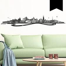 wandkings wandtattoo skyline bielefeld 100 x 18 cm schwarz erhältlich in 33 farben
