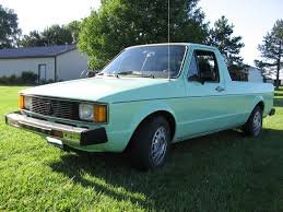 11. 1981 VW Rabbit Truck Mint Green! (We Bought This One Sometime ...