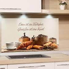 details zu spritzschutz herd glas küchenwand küchenrückwand spruch essen bedürfnis glasbild