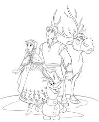 Frozen Castle Coloring Page Pages All Characters