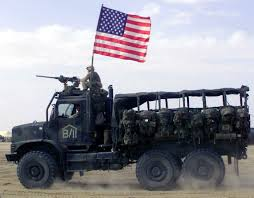 100 7 Ton Military Truck A New Ton Truck Flies The American Flag Just Above An M2