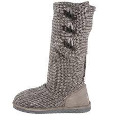 amazon com bearpaw women u0027s knit tall snow boot mid calf