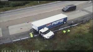 Pepsi Truck Hangs Off Montgomery County Interstate 76 Ramp - NBC 10 ... Four Killed As Truck Hits Bus On Lagosibadan Expressway Premium Pepsi Crashes Into Fort Bend County Creek Abc13com Update One Dead After Tractor Trailer House In Carroll Truck Crash Chicago Best 2018 Woman Dies Crash Between Car I95 Cumberland Part Of Nb I69 Eaton Co Reopens 1 Critical Cdition Hwy 401 Near Dufferin The Poultry Reported Rockingham Cleveland His Got Stuck Then He Saw A Train Coming Sun Herald Louisa Man Gop Crozet