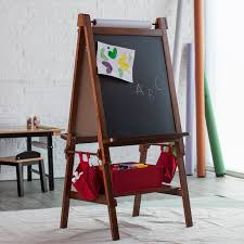 Kidkraft Easel Desk Espresso by Classic Playtime Deluxe Easel Walnut With Paper Roll Hayneedle