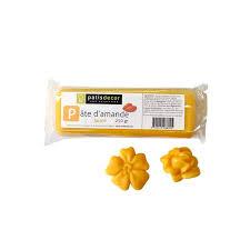pate d amande colorée jaune 250 g patisdécor cerf dellier