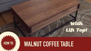 Easy To Make Coffee Table With Lift Up Top YouTube
