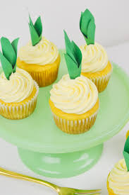 Pineapple Cupcake Recipe And DIY Toppers