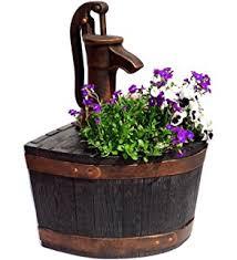 Garden Planter Whiskey Barrel Pump Bronze Efffect None Working Replica