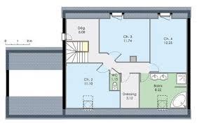 plan maison 4 chambres etage plan maison chambre etage
