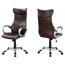 OFFICE CHAIR - BROWN LEATHER-LOOK / HIGH BACK EXECUTIVE Ofm Ess6030brn Ergonomic Highback Leather Executive Office Chair With Arms Brown Architectures Fniture Details About Home Amazoncom Ticova High Back Hon Highback Vinyl Seat Desk Off Chairs Beautiful Best Office Chairs For 20 Herman Miller Secretlab Laz Vinsetto Faux Wooden Tufted Mulfunction Swivel By Flash Online Singapore Bt444midwhgg Mid Traditional Guplushighback