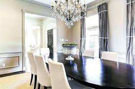 Formal Dining Room Wainscoting Drapes Excellent With Gray
