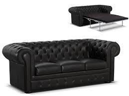 vente canape chesterfield canapé chesterfield 3 places convertible cuir londres noir