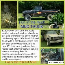 100 Ford Mud Truck Best 1984 F150 For Sale In Griffin Georgia For 2019