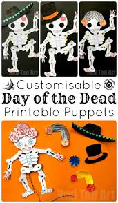 Day Of The Dead Pumpkin Carving Patterns by Day Of The Dead Paper Puppet Template Red Ted Art U0027s Blog