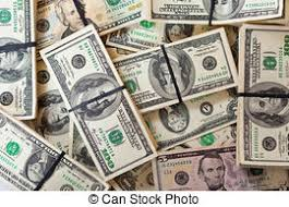 Background of new 100 us dollars banknotes bills Creative
