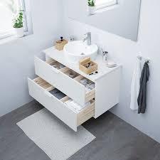 godmorgon waschbeckenschrank 2 schubl weiß 100x47x58 cm