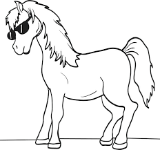 Free Spirit Horse Coloring Pages Printable Cartoon Page For Kids