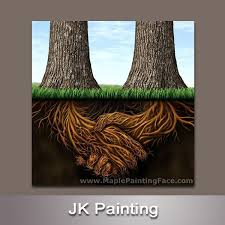 Modern Abstract Canvas Art Tree Roots Framed Painting Home Wall D