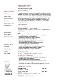 Resume Template For Buying Purchase Manager Job Description Samples Examples