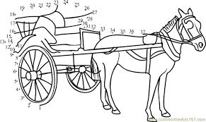Horse Connect The Dots Coloring Pages