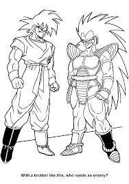 Dragon Ball Z Coloring Page Featuring Gohan And Hercule Satan XD Throughout Pages