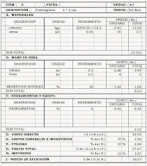 CONTRAPISOS Analisis de precios unitarios
