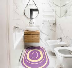 vinyl teppich küche lila oval