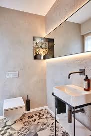 badezimmer im landhausstil modern mit boden fliesen kacheln