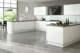 Contemporary Kitchen White With Grey Vinyl Floor Laminate Flooring Options Types Commercial Floating New Style Budget