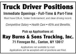 100 Trucking Salary Employment NorthCountryNow