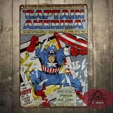 Vintage Superhero Wall Decor by Superman Retro Superhero Comics Tin Sign Home Decor Man Cave E 06