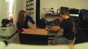 Ikea Nyvoll Dresser Instructions by Ikea Night Stand Assembly Youtube