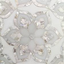 Types Of Natural Stone Flooring by Gorgeous Aurora With White Thassos Royal White And Pearl Glass