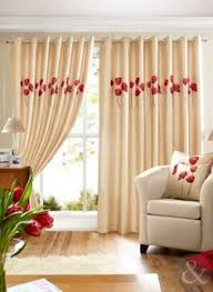 Amazon Uk Living Room Curtains by Cream U0026 Red Poppies Curtain Pencil Pleat Lined Ready Made Floral