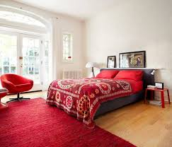 Coral Colored Decorative Accents by Bedroom Black And White Bedroom With Red Accents Decorative