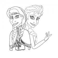 Anna And Queen Elsa Coloring Pages