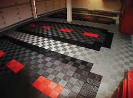 unique block tile garage flooring harley davidson garage flo