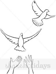 Two Flying Doves Clipart