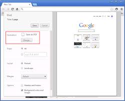 From The Chrome Print Options Page Destination Section Click Change Button This Will Display Select A