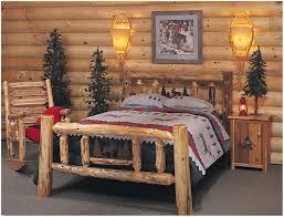 Knotty Pine Bedroom Furniture by Bedroom Untreated Logs Rustic Cedar Log Bedroom Set Log Cabin