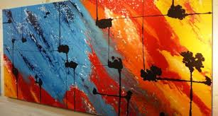 Abstract Art Paintings Interior Design Ideas