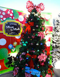 Mickey And Minnie Mouse Themed Christmas Tree