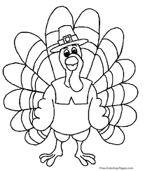 Thanksgiving Turkey Coloring Page Free Pages Printable