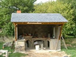 cuisine d ete couverte realisation d une cuisine d ete et four à bois lozere
