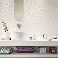 essenziale weiße keramik mit 3d relief für das bad marazzi