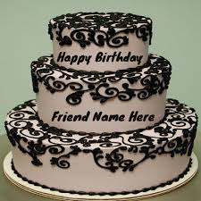 Write Your Name Nice Chocolates Cake For Friends