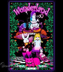 Wonderland 2 Blacklight Reactive Poster