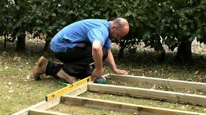 8x6 Wood Storage Shed by How To Build A Wooden Shed Base Youtube